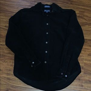 Faconnable corduroy long sleeve button up top